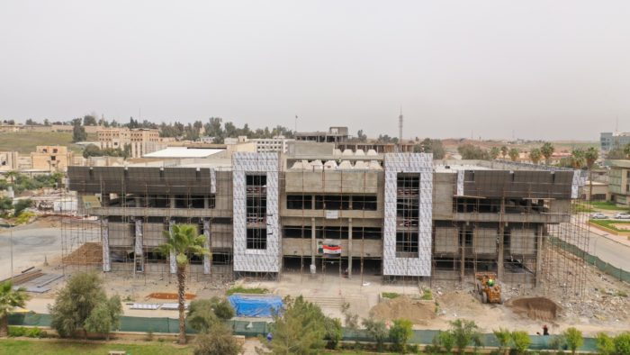 The University of Mosul Library is being rebuilt after burning and destruction suffered under ISIS and in the battle to liberate the city.