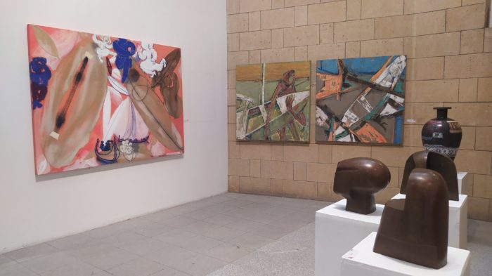 Egypt's 42nd annual General Exhibition displays works in many media, including paintings, sculpture and ceramics.