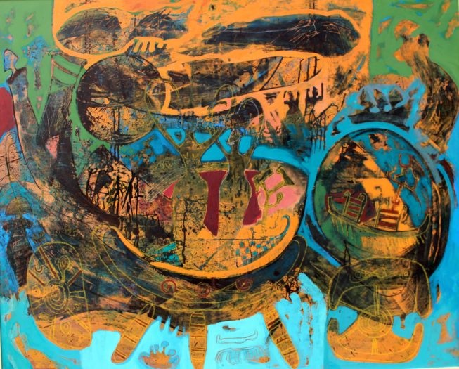 A painting by Amal Nasr