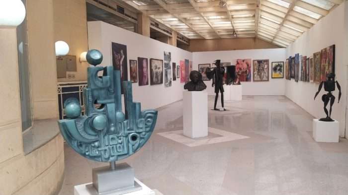 Some of the sculptures and paintings on view in the 42nd annual General Exhibition