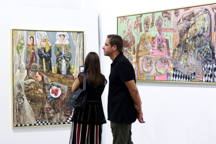 """Paintings by Klay Kassem in the exhibition """"Tales of Scheherazade"""""""