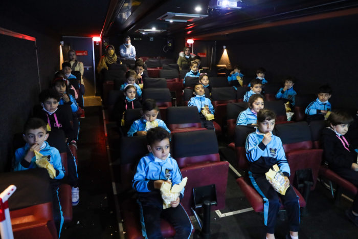 """Apart from enhancing cultural opportunities, organizers also hope the Cinema Bus """"will support the mental health of all residents of the Strip."""""""