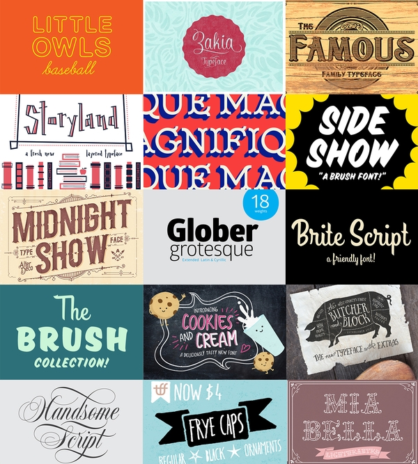 The Creative Market Font Bundle with $1,300 of fonts for only $39 (97% off!)
