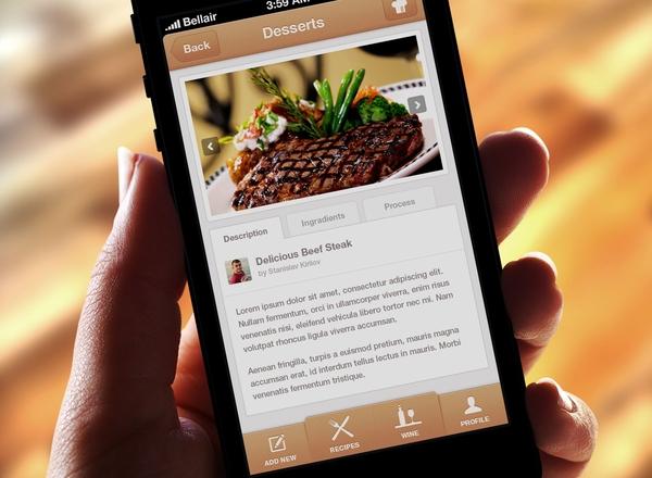 Food app template