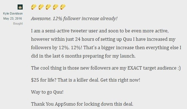 Get lifetime access to Quuu!
