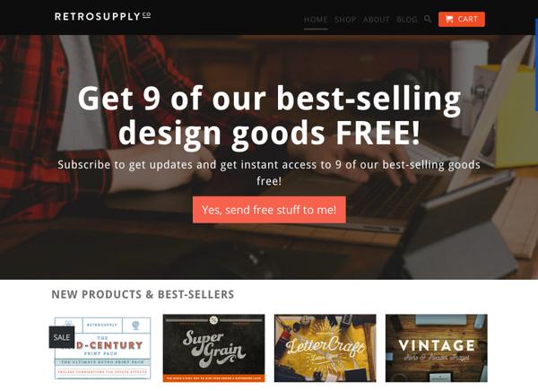 RetroSupply Co Homepage