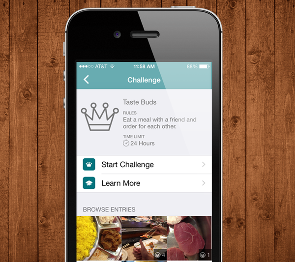 Screenshot of a challenge from the app