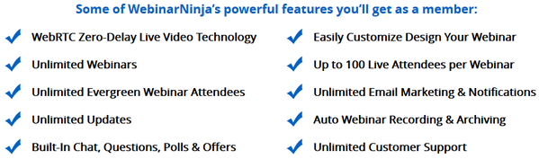 Lifetime Access to Webinar Ninja!