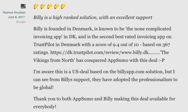 Get Lifetime Access to Billy