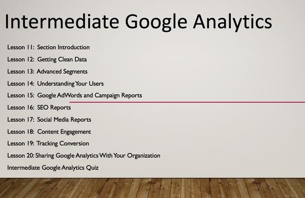 Lifetime Access to Google Analytics Course