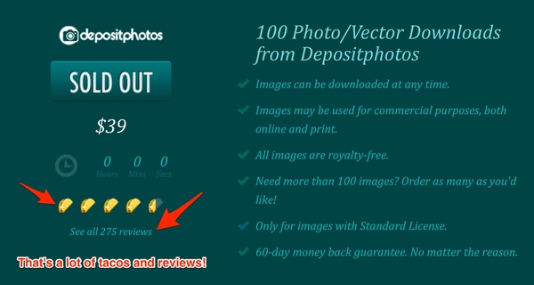 100 Photo/Vector Downloads from Depositphotos