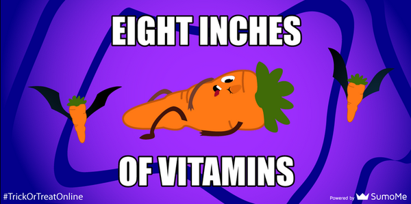 8 inches of vitamins #TrickOrTreatOnline