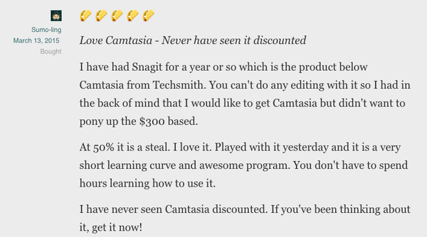 Click here to get Camtasia for 50% off!