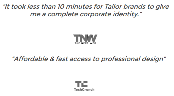 Access to Tailor Brands Premium Branding Bundle