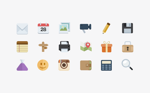 Tons of beautiful flat icons