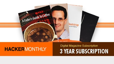 Hacker Monthly 3 Year Subscription