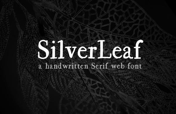 SilverLeaf handmade font