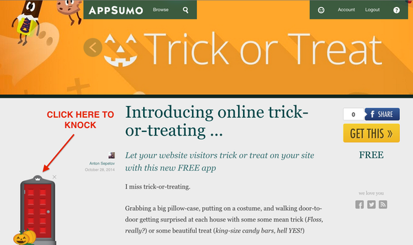 Click here to trick or treat on AppSumo.com
