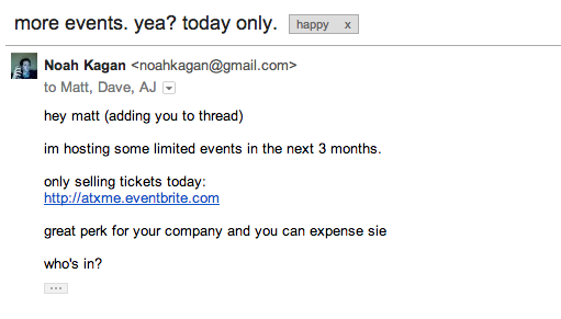 My email to a company