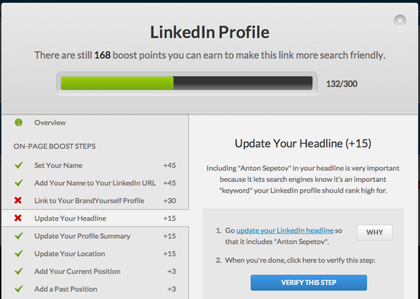Steps to boost my LinkedIn Profile