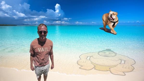 Joe on the beach