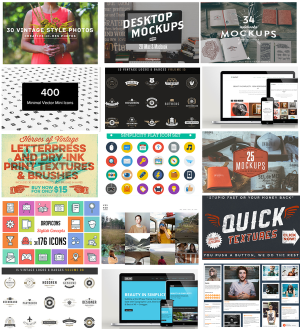 $1200+ Creative Market design bundle for only $39!