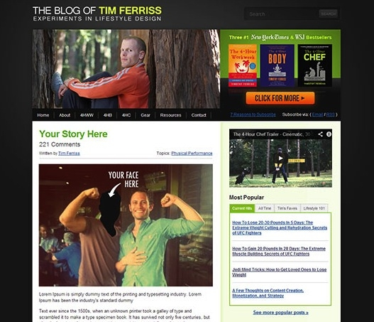 You could be featured on Tim Ferriss' blog!