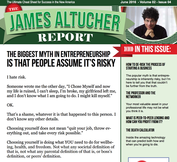 Get the James Altucher Bundle for only $20