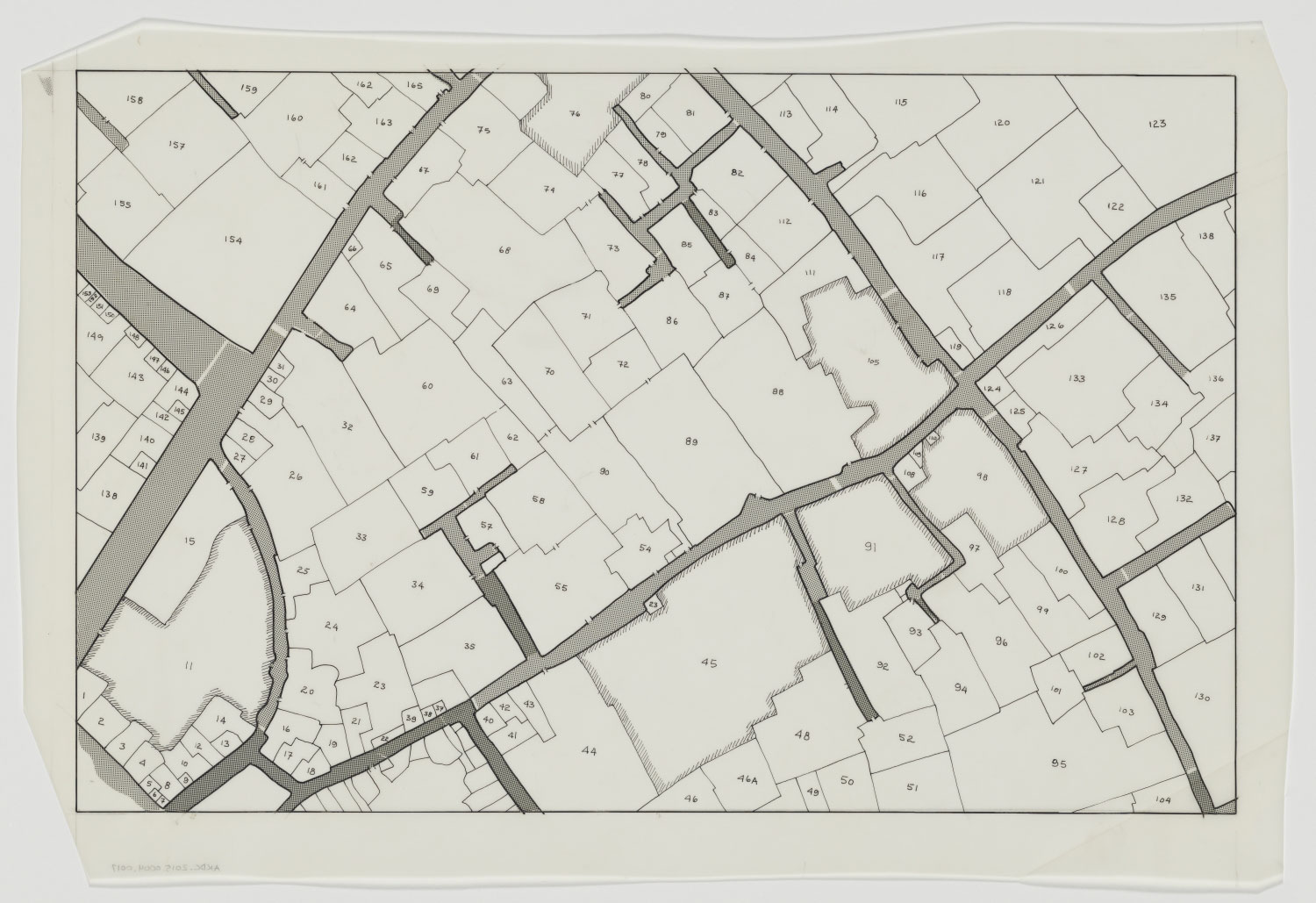 Collections | Projects | Isfahan Urban History Project | Map of lots ...