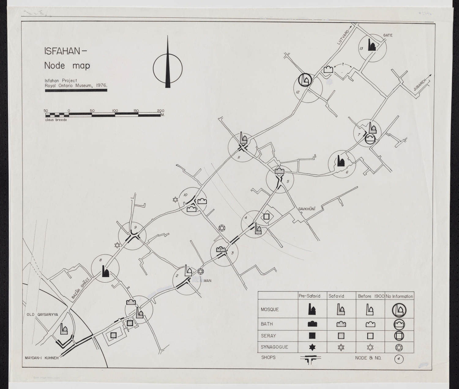 Collections | Projects | Isfahan Urban History Project | Map of ...