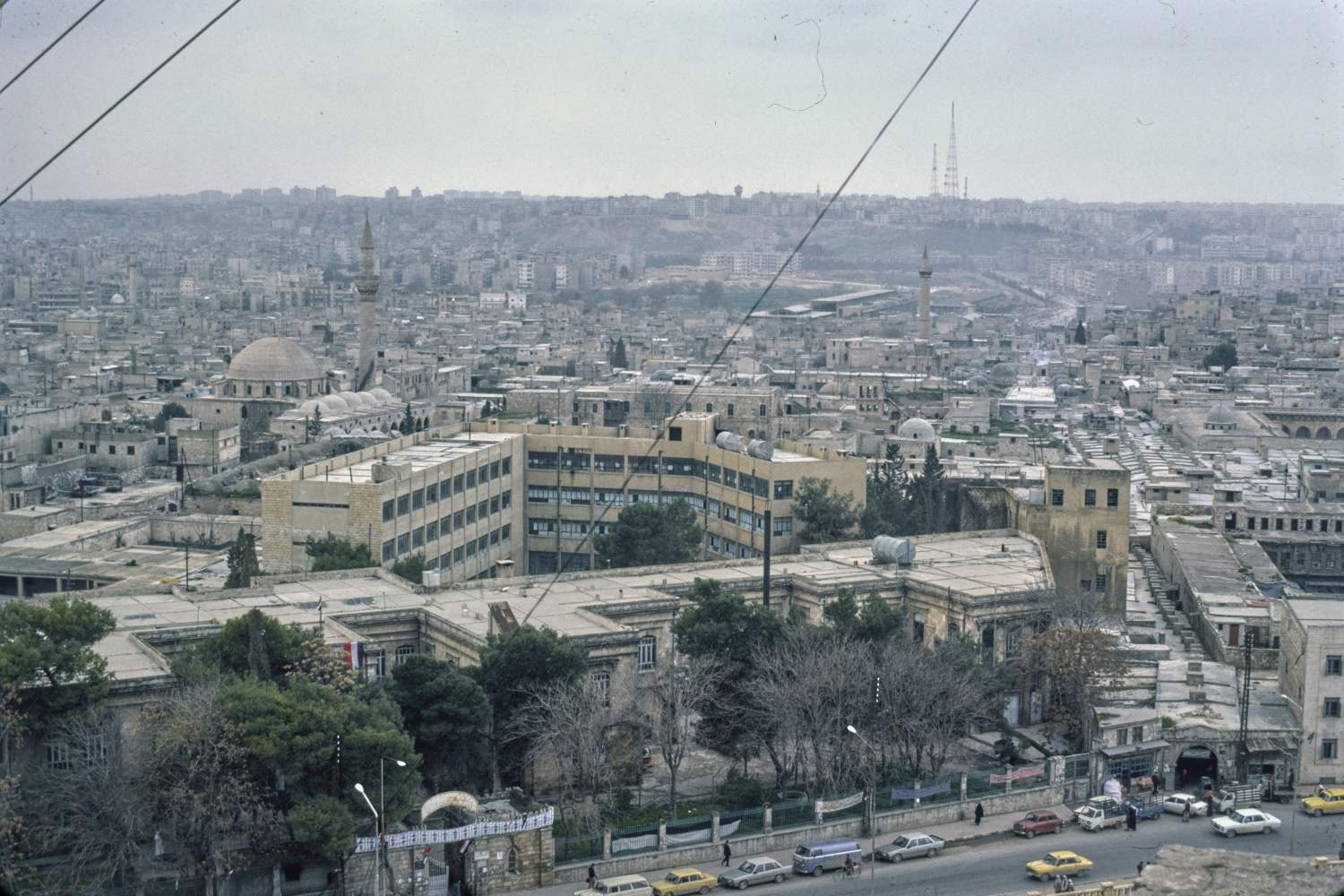 Aleppo | View over city from citadel  | Archnet
