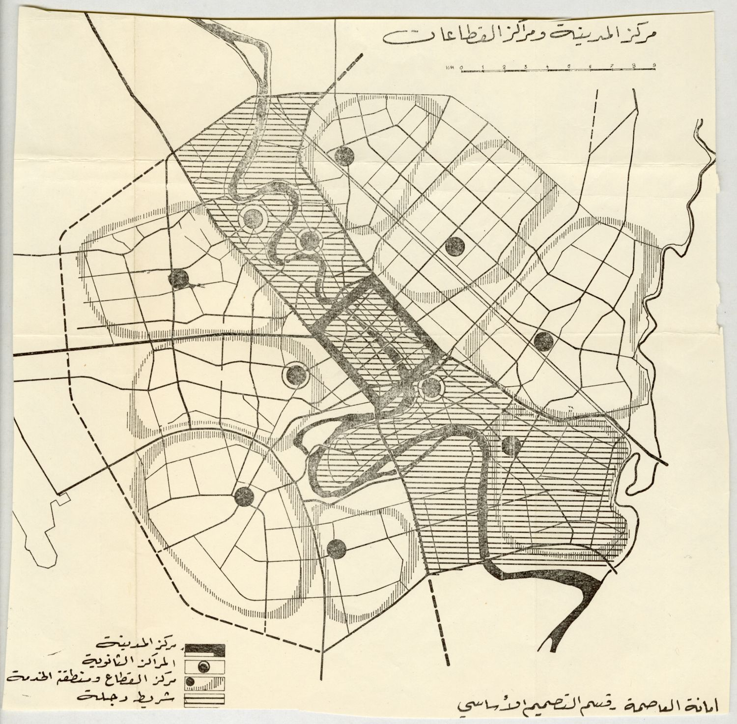 Collections | Architect\'s Archives | Mohamed Makiya | Map showing ...