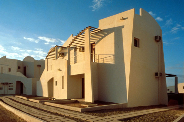Yanbu Cement Company Village Exterior View Showing