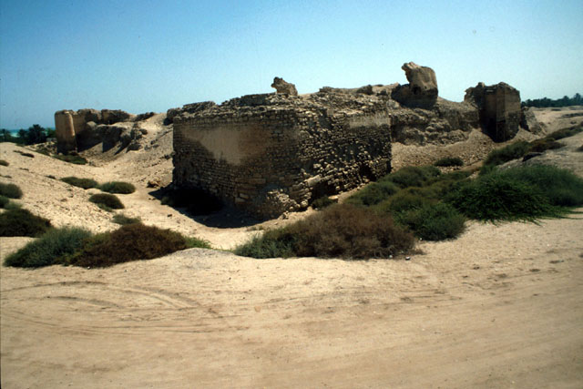 Bahrain Fort Restoration | Exterior view of ruins of stone