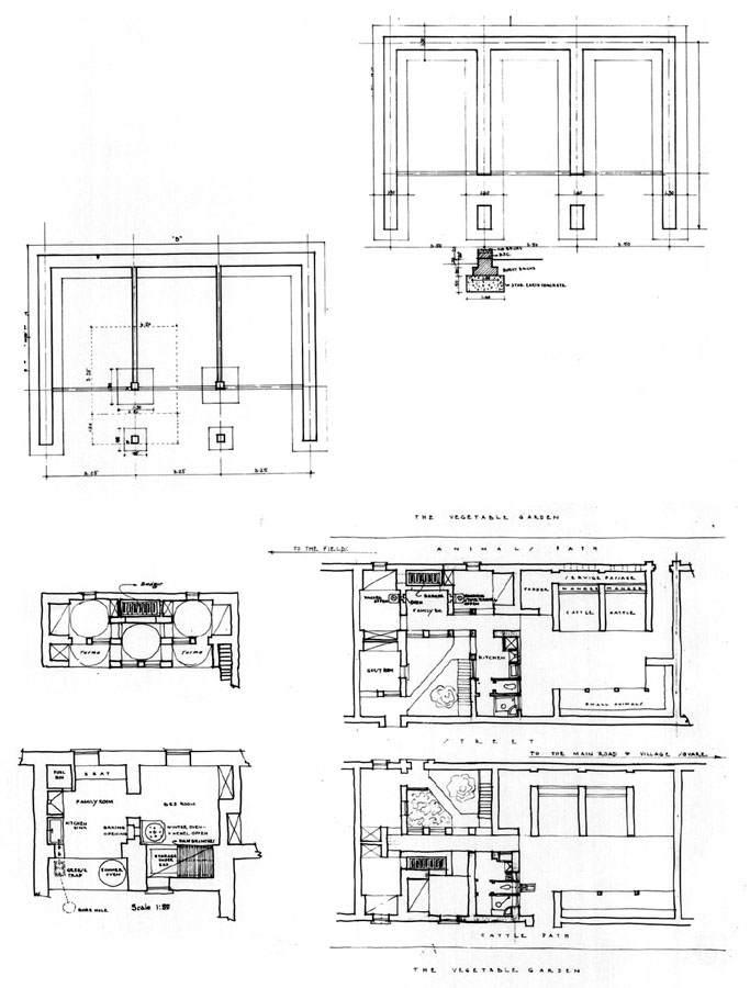 Iraq Housing Programme   Design drawing: Plans of systems of