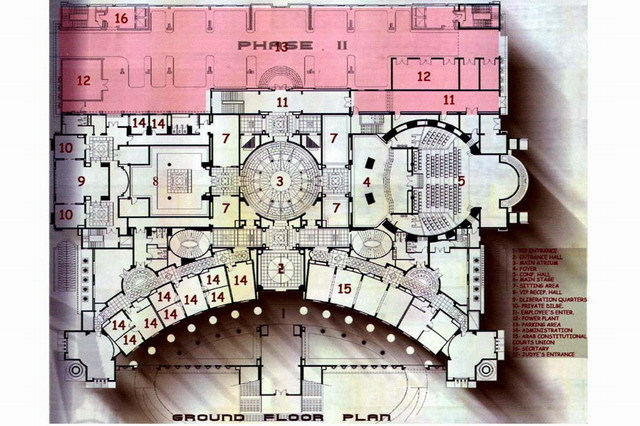 Egyptian Supreme Constitutional Court Ground Floor Plan