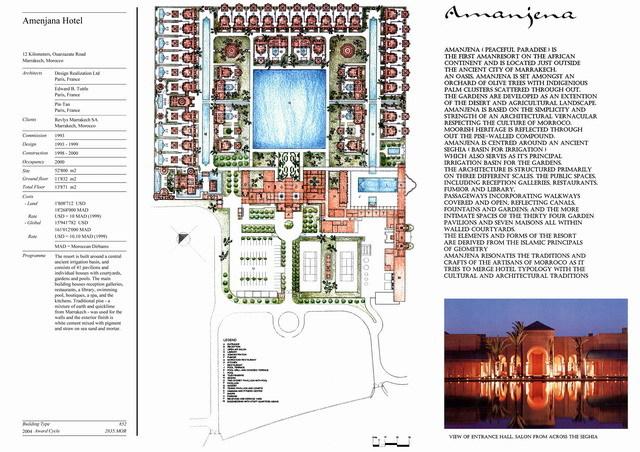 Amanjena Hotel   Presentation panel with project description