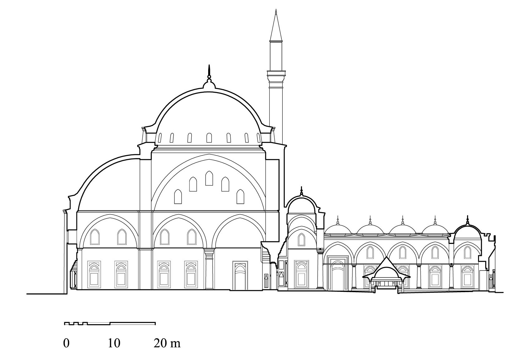 Hypothetical cross-section of the original mosque of