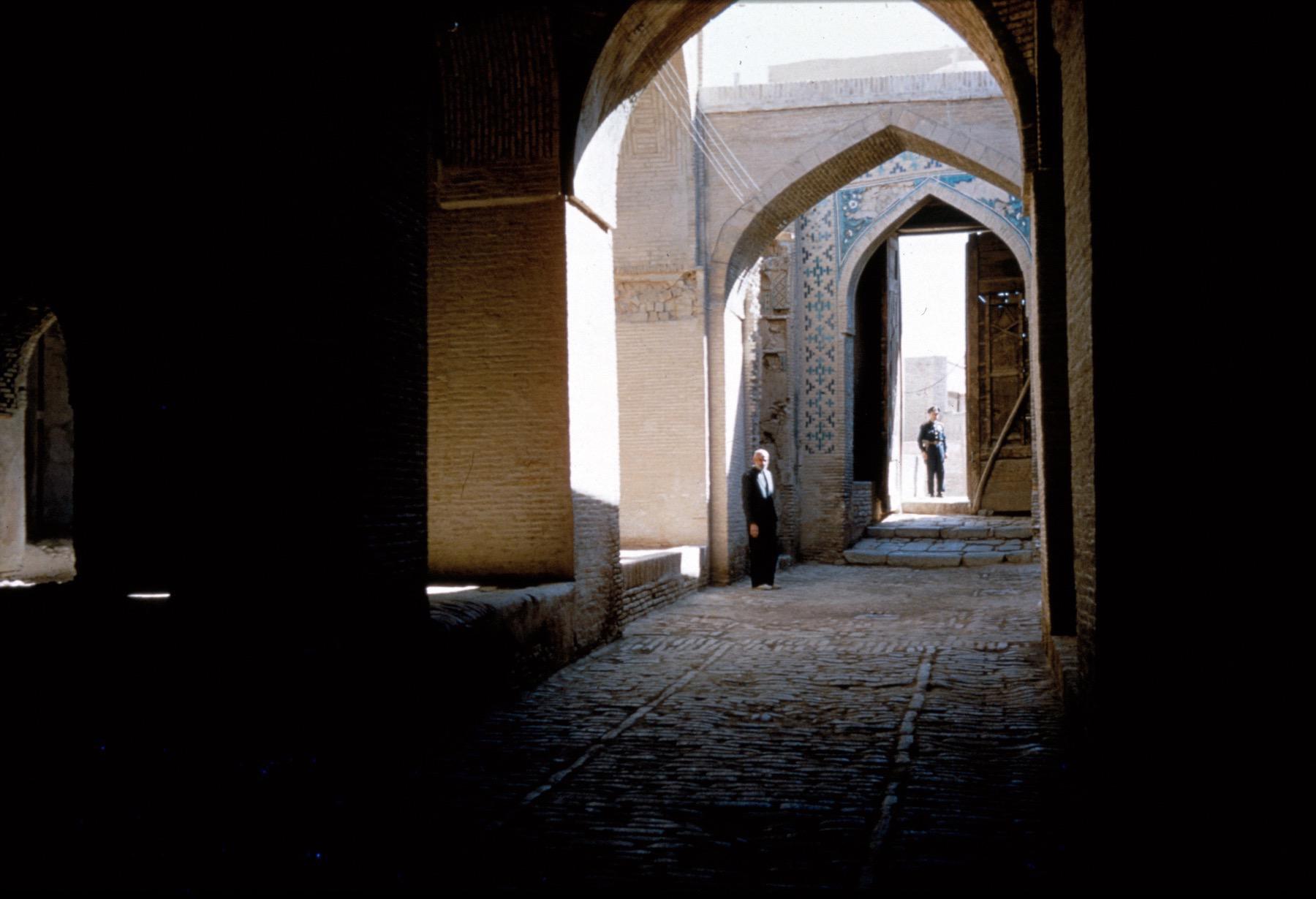 Masjid i jami isfahan view down corridor behind southeast