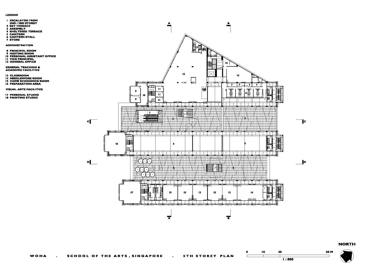 School Of The Arts Fifth Floor Plan Archnet