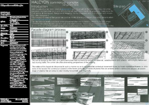 Halcyon Commercial Complex Presentation Panels | Archnet