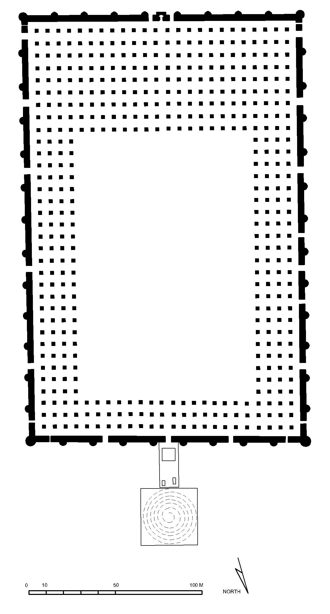 Floor plan of Mosque of Mutawakkil, Samarra | Archnet