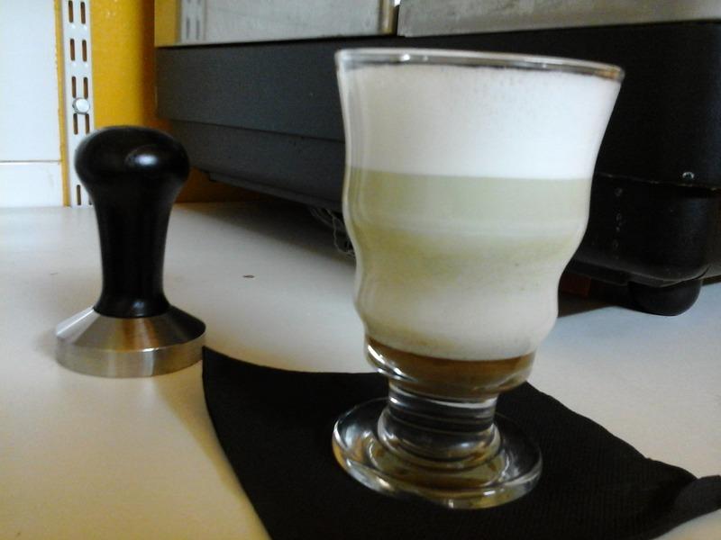 The vert Matcha latte miel