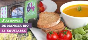 J'ai envie de manger bio et équitable  : La table du 64 du SART, c'est nouveau et c'est bio