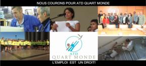 Nous courons pour ATD Quart Monde : « L'emploi est un droit ! »