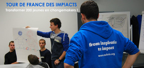 Tour de France des imp!acts   : imp!act : transformer 50 jeunes en changemakers !