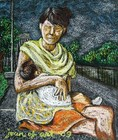 Mother_and_child__oil_pastel_on_sandpaper