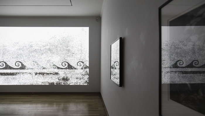 Jan Ti chy (Czech, b. 1974) Installation No. 31 (Seven Seas), 2016 Single channel HD video projection, 10 minutes Courtesy of the artist Ansel Ad ams (American, 1902–1984) Winter Sunrise, Sierra Nevada, Lone Pine, 1942 Gelatin silver print Gift of Margaret Weston, 2005.76.2 Trailside, Near Juneau, Alaska, 1947 Gelatin silver print Gift of Margaret W. Weston, 2008.73.1