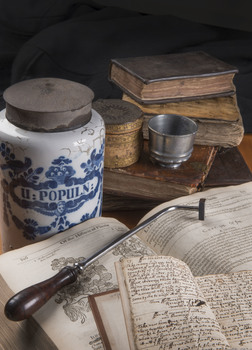 20160810125832-herbal_book__antimony_cup__cauterising_iron__apothecary_jar__c__rcp_photography_john_chase