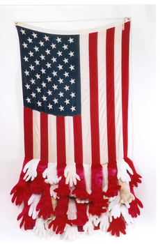 Forefather_for_a_father__66in_x_39in_x_11in__flag__36_stuffed_gloves__2004
